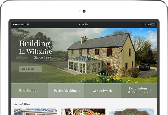 Latest Project - freelance web designer Bristol